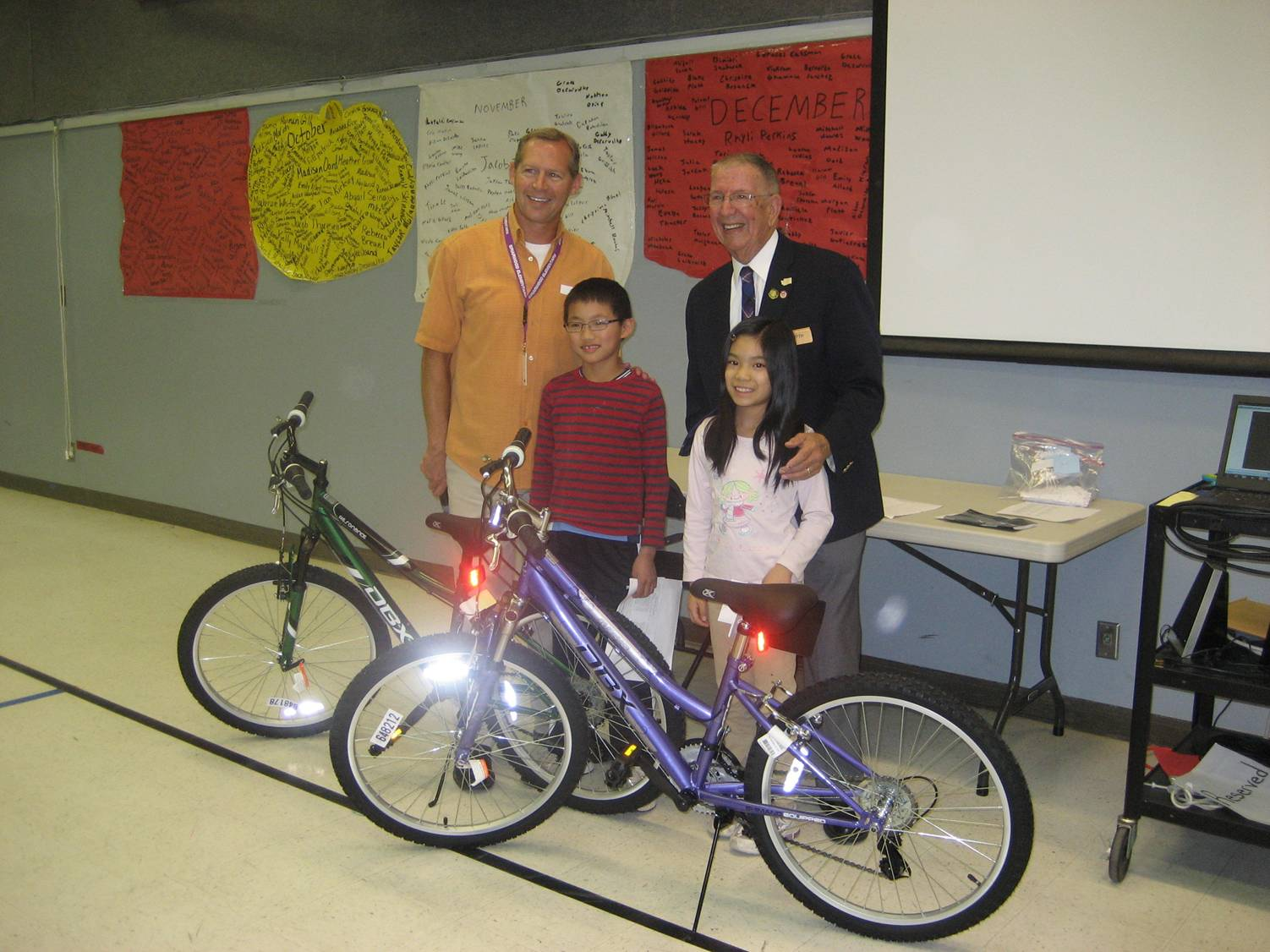 The 2012 Bikes for Books winners